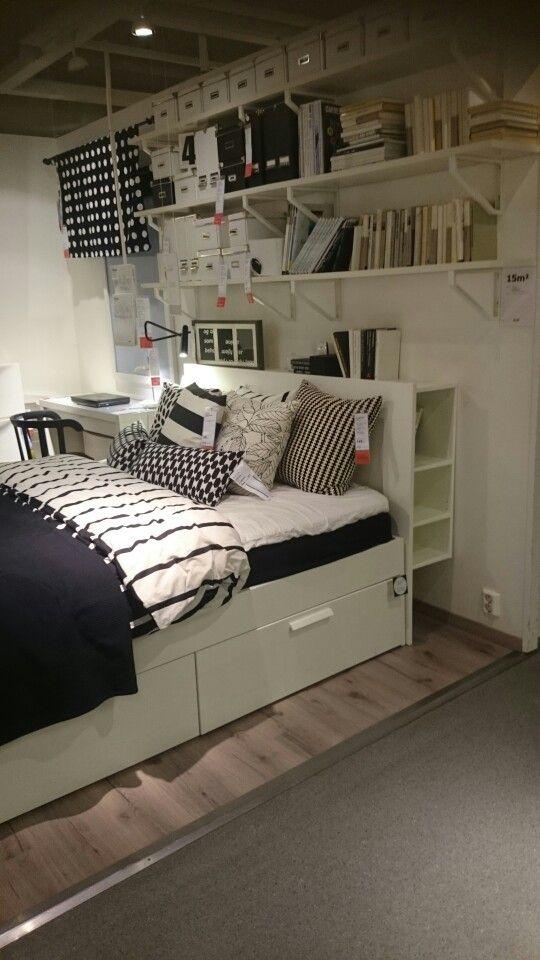 brimnes seng Brimnes Skorva seng med ekstra romslige skuffer | HOME  tiny  brimnes seng