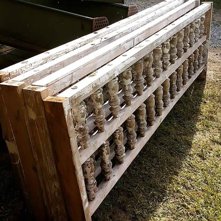 Best Vintage Wooden Porch Railing Antique Headboard Big 400 x 300