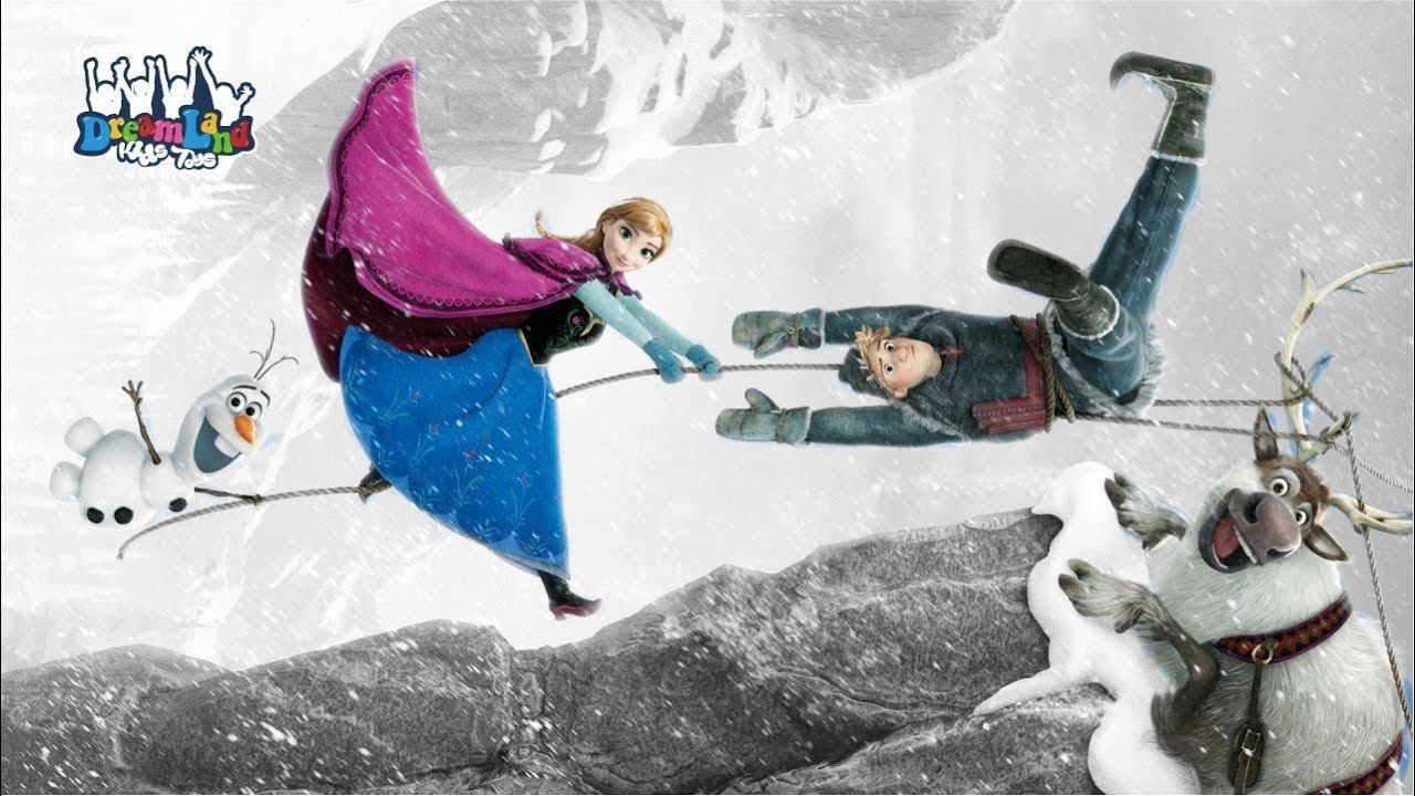 Frozen Coloring Page Anna Kristoff Olaf Frozen