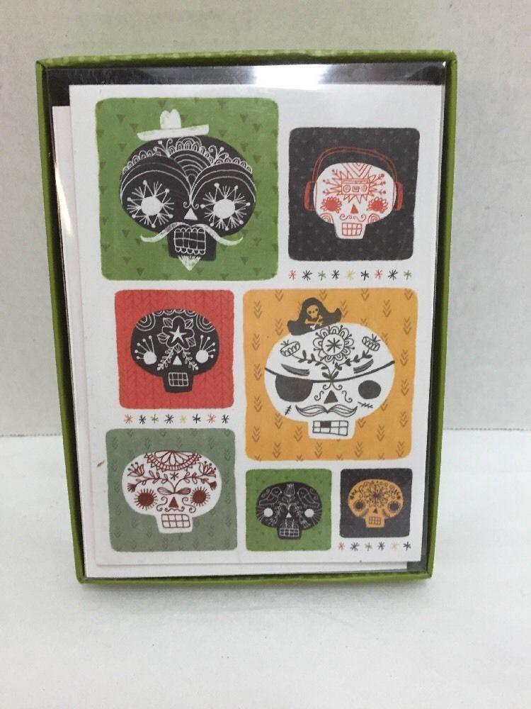 Skulls notecards madison park greetings box 10 cards w envelopes skulls notecards madison park greetings box 10 cards w envelopes calavera m4hsunfo
