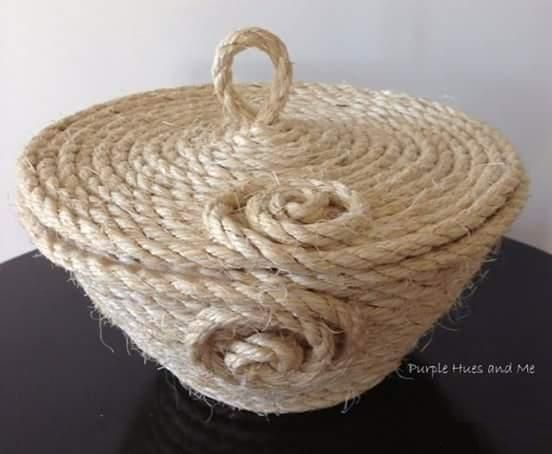 Tina's handicraft : basket Rope - photo tutorial
