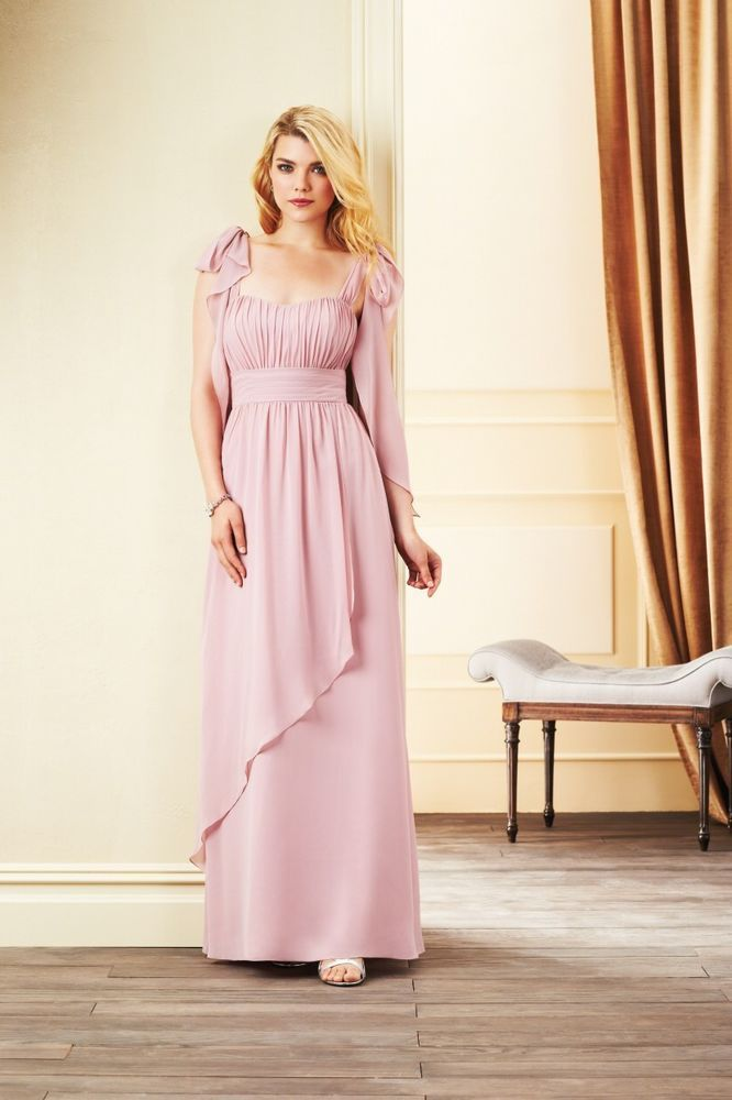 Alfred Angelo 7265L Rum Pink Floor Length Size 16 Bridesmaids Dress ...