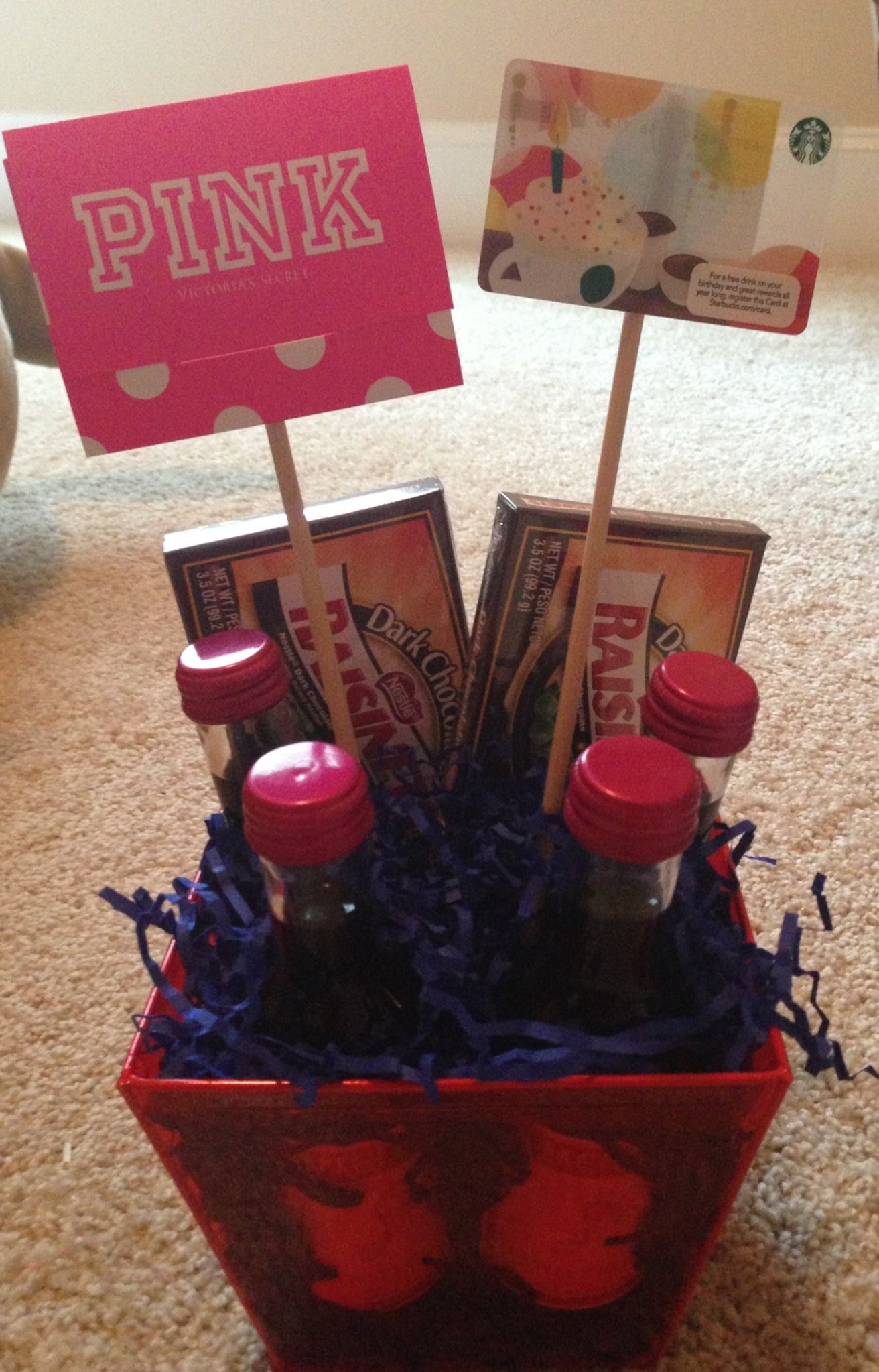 Birthday gift basket for my sweet friend! Can customize to ...