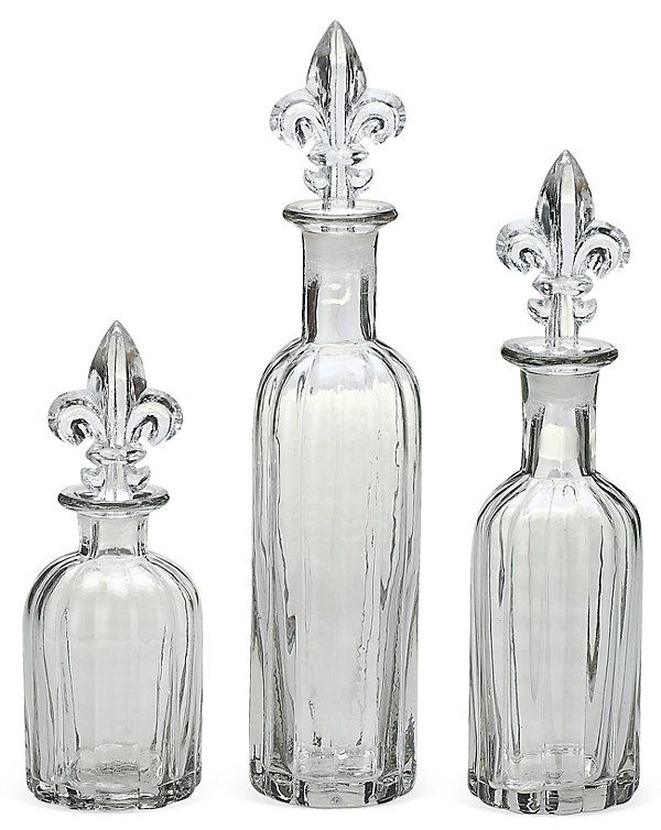 One Kings Lane - Spruce Up the Spare Room - Glass Bottles W/ Fleur ...