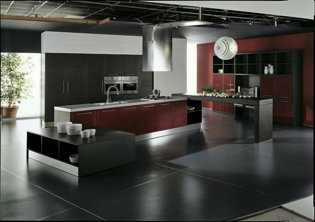 Uno de los mejores pisos. La combinación del negro, rojo y blanco ...