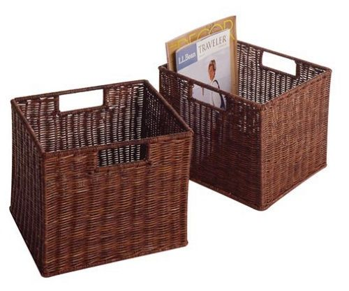 Espresso Wicker Basket Sets   Decorative Boxes U0026 Baskets At Hayneedle