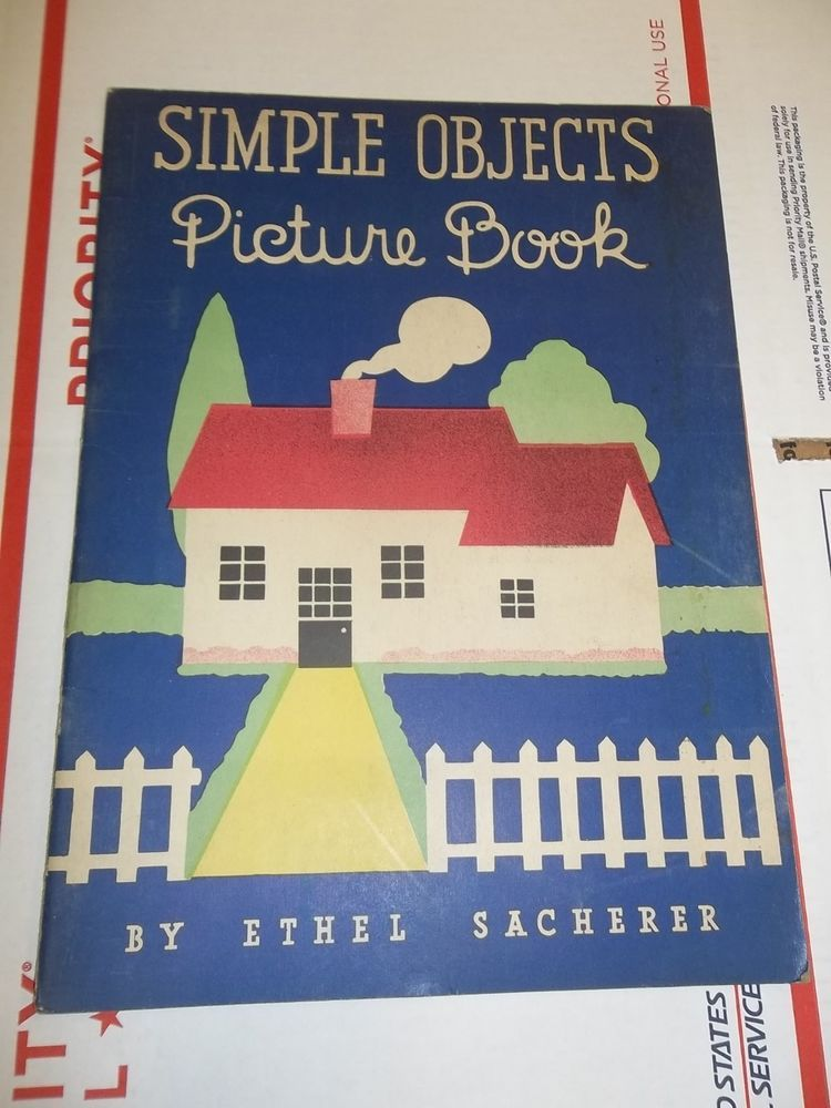 1936 SIMPLE OBJECTS PICTURE BOOK Ethel Sacherer Whitman Publishing RARE