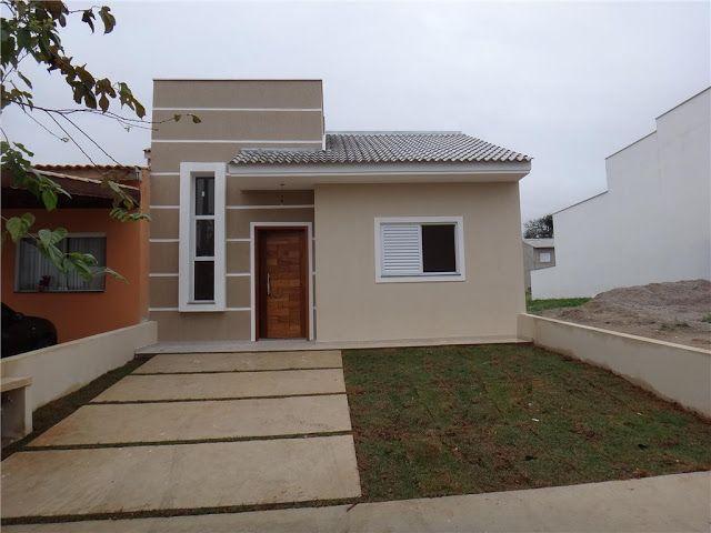 Fachadas de casas simples e pequenas 23 fachadas for Ideas para frentes de casas pequenas