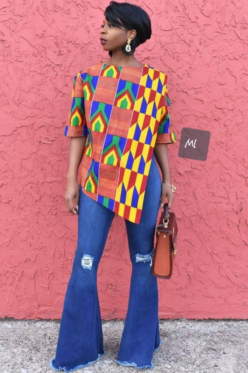Pin By Niamessou Chantal Koffi On Chantal In 2020 African Print Tops Africa Fashion African Fashion