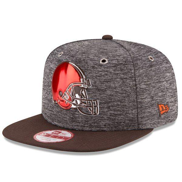 Cleveland Browns New Era Draft Original Fit 9FIFTY Snapback Adjustable Hat  - Heather Gray  ClevelandBrowns 73c69df4f