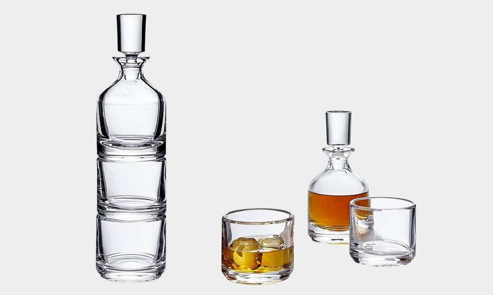 CB2 Stacked Decanter and Rocks Glass Set