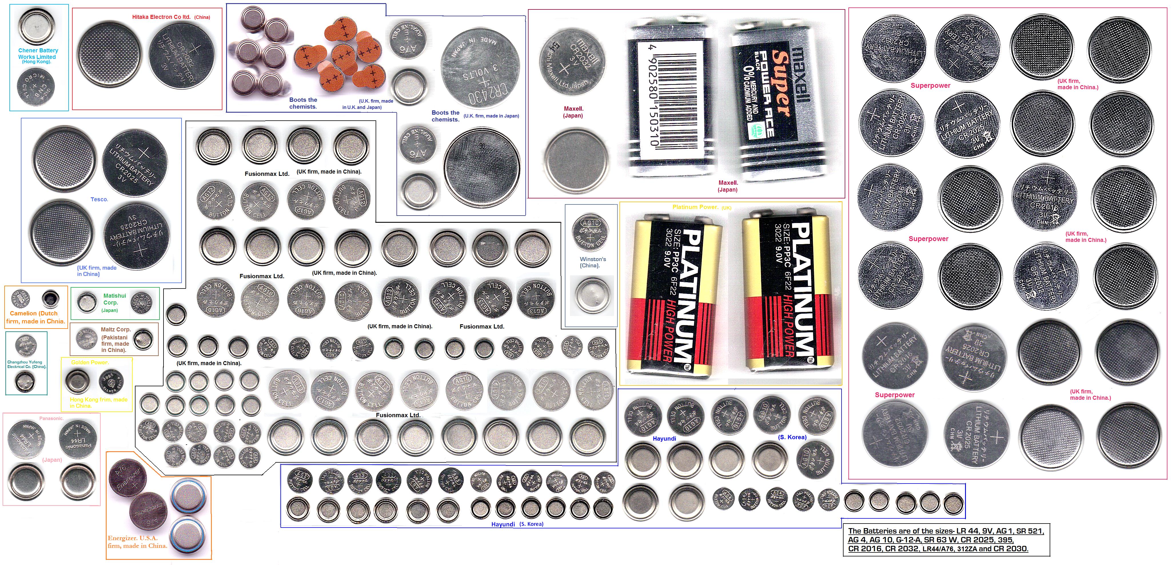 Watch battery sizes chart google search pinterest also charts keninamas rh