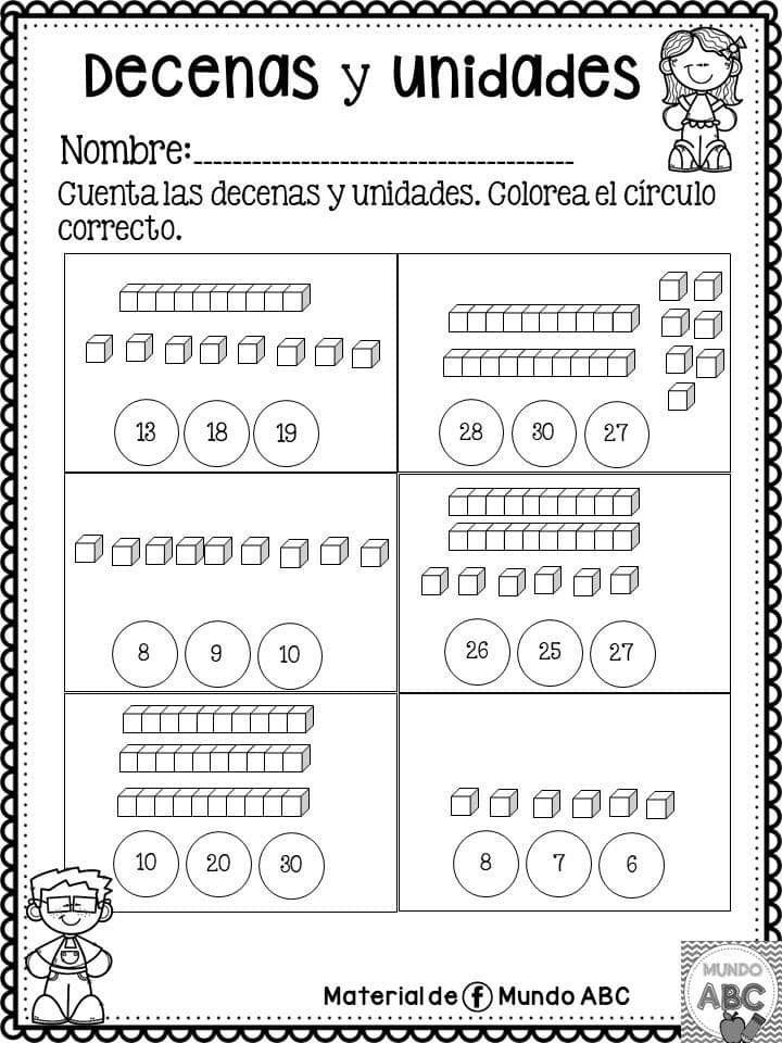 Actividades Decenas Y Unidades 7 Decenas Y Unidades Decenas Y Centenas Actividades De Matematicas