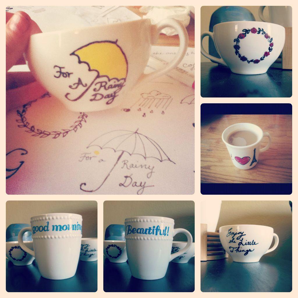 Scribbles From Emily Tutorial Dishwasher Safe Sharpie Mugs Sharpie Crafts Diy Mugs Diy Painting