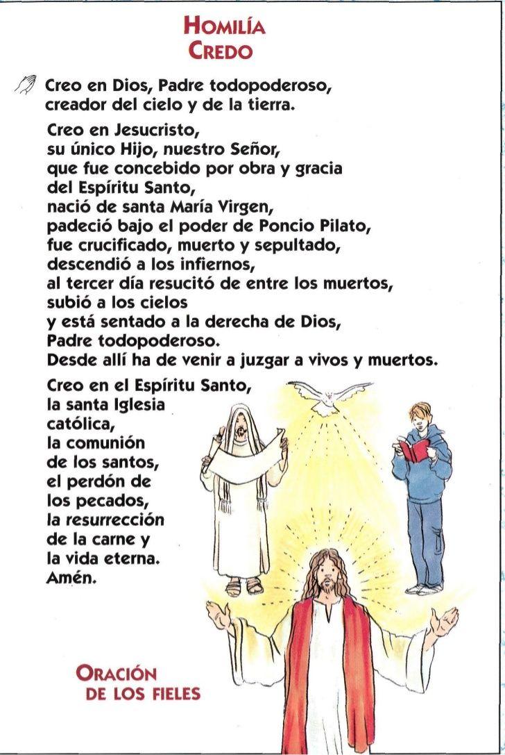 La Misa Explicada Oraciones Oraciones Cristianas Oracion Del Credo
