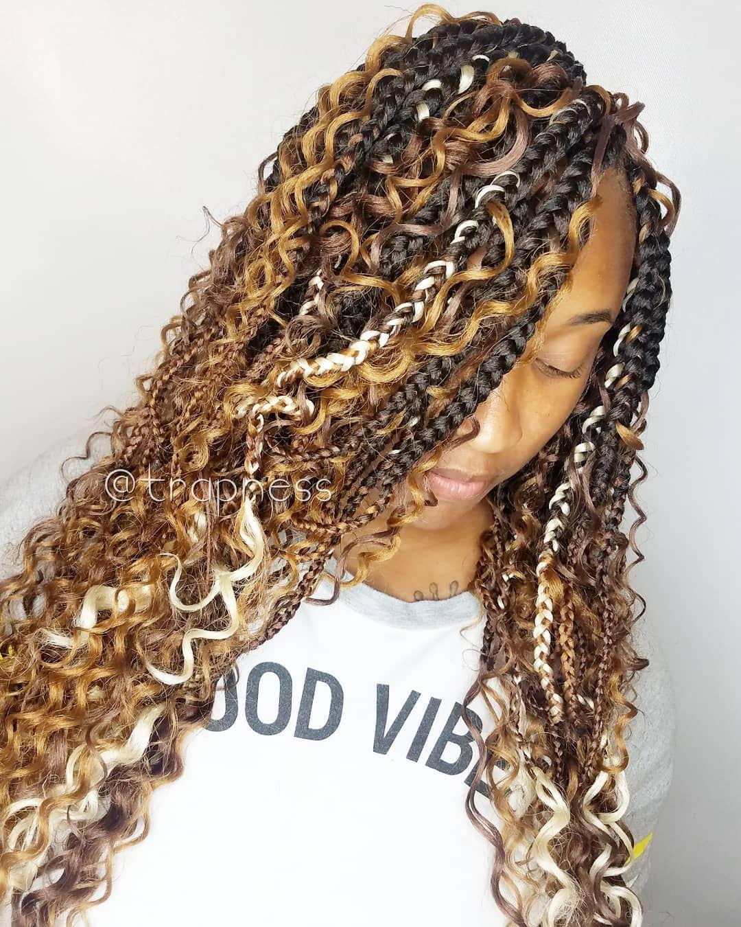 39+ Colored goddess box braids trends