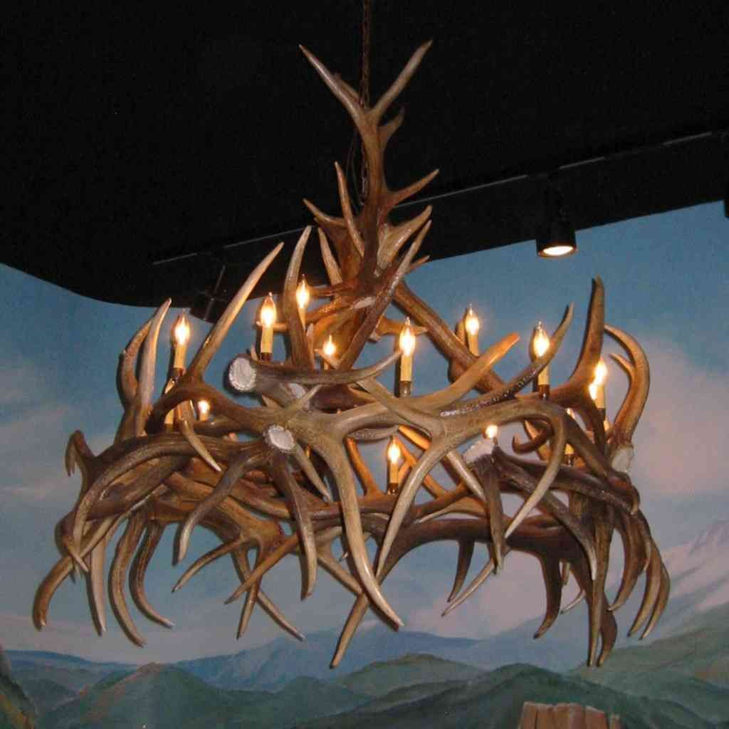 Elk antler chandelier antler chandelier pinterest antlers elk elk antler chandelier aloadofball Images