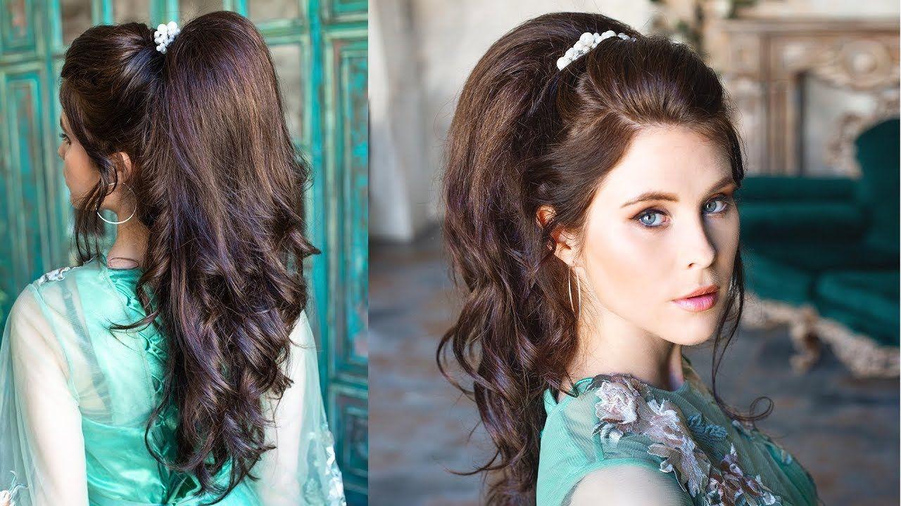 Incredible volumetric ponytail - quite simple prom ...