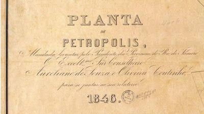 Realitas: Planta de Petrópolis, RJ, Brasil - Major Koeler - 1846 - FBN