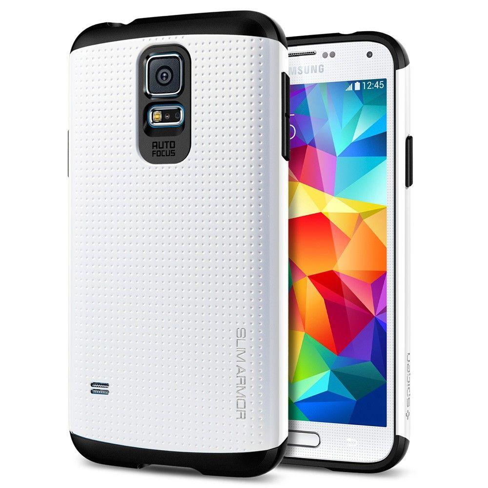 Samsung Galaxy S5 KılıfSpigen Slim ArmorBeyaz+HEDİYE 29