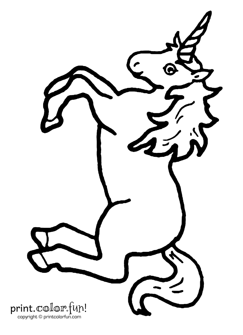 Leaping Unicorn Unicorn Coloring Pages Coloring Pages Unicorn Stencil
