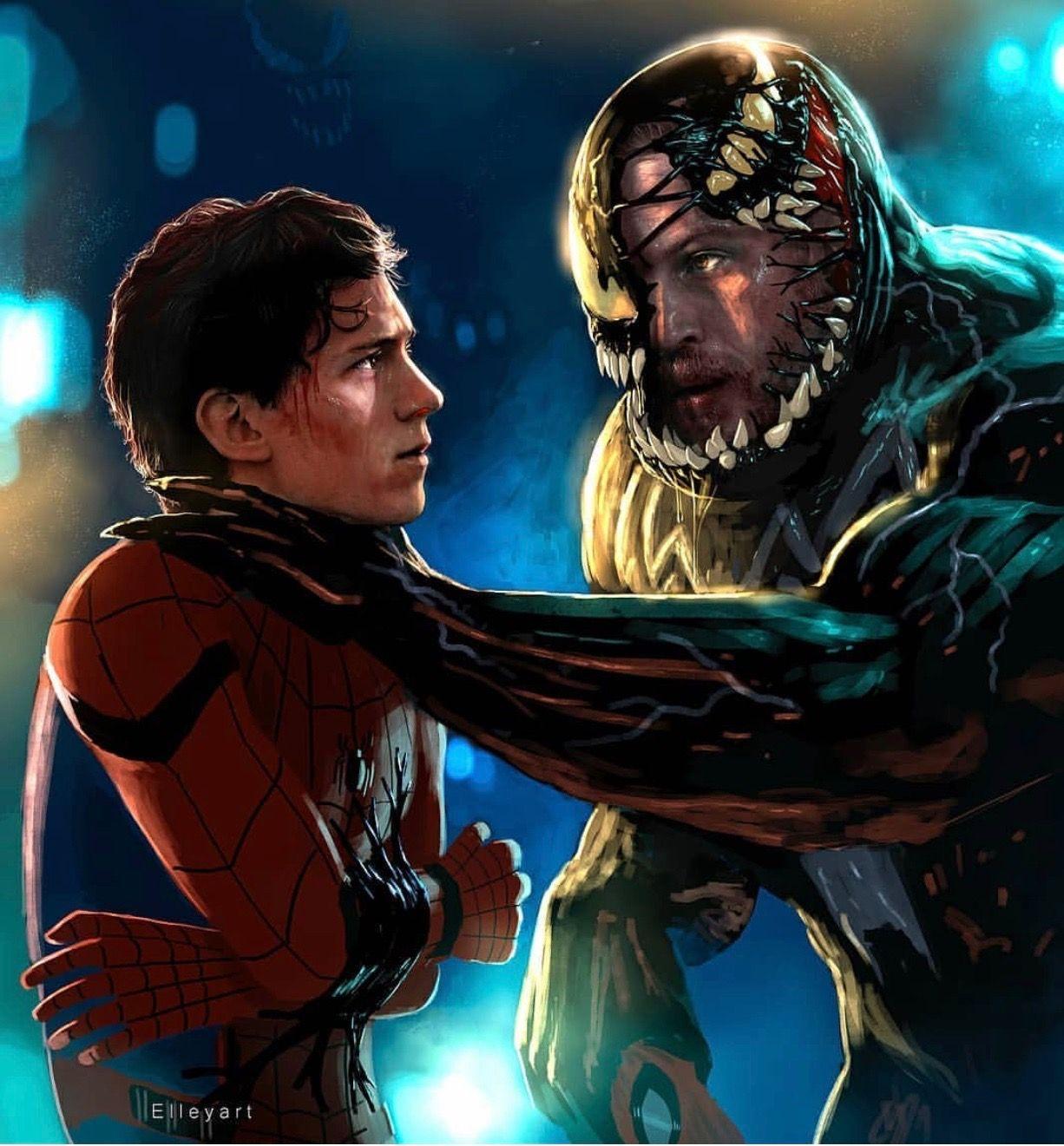 spiderman vs venom (5)   marvel comics   spiderman, marvel, venom