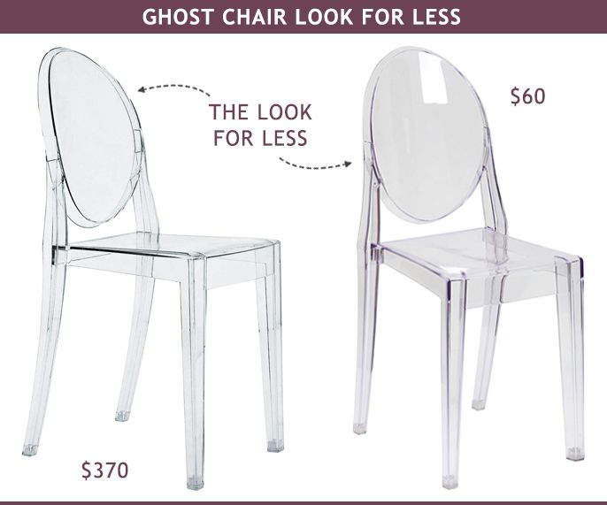 Ghost Chair Look For Less | Ghost chairs, Dining and Desks