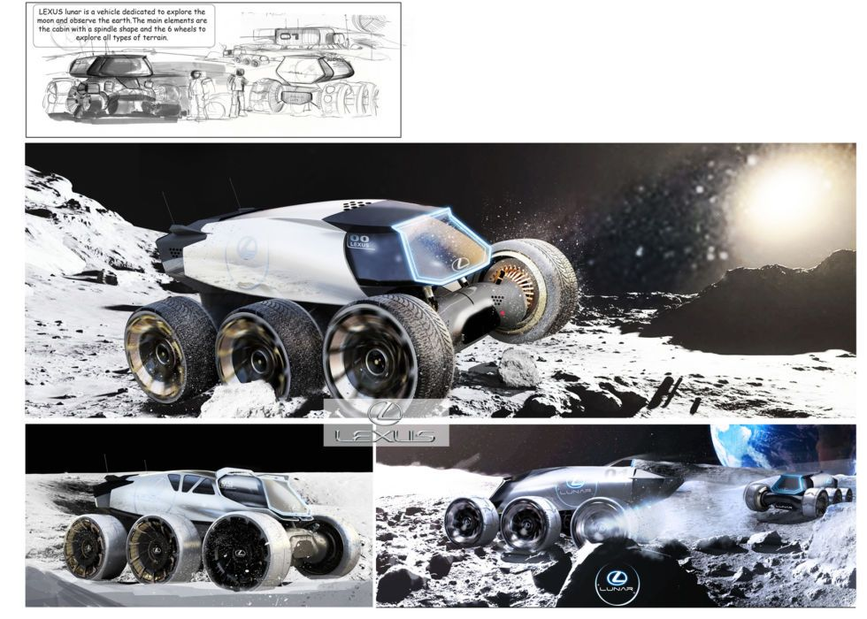Lexus had its European design team imagine vehicles for moon mobility -
