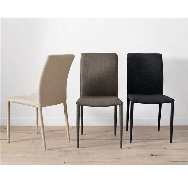 Chaise tissu (lot de 2) Bitume AM.PM | Chaise tissu, Chaise