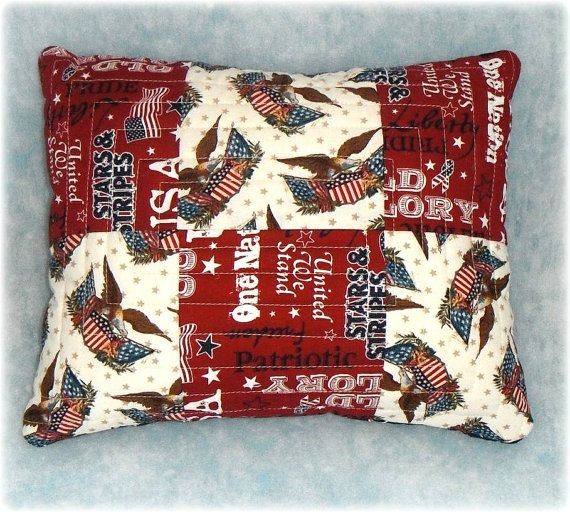 Save with special coupons through Christmas! See Shop for details.  Americana Patriotic Accent Pillow Gift for a by AWordFitlySpoken, $22.50