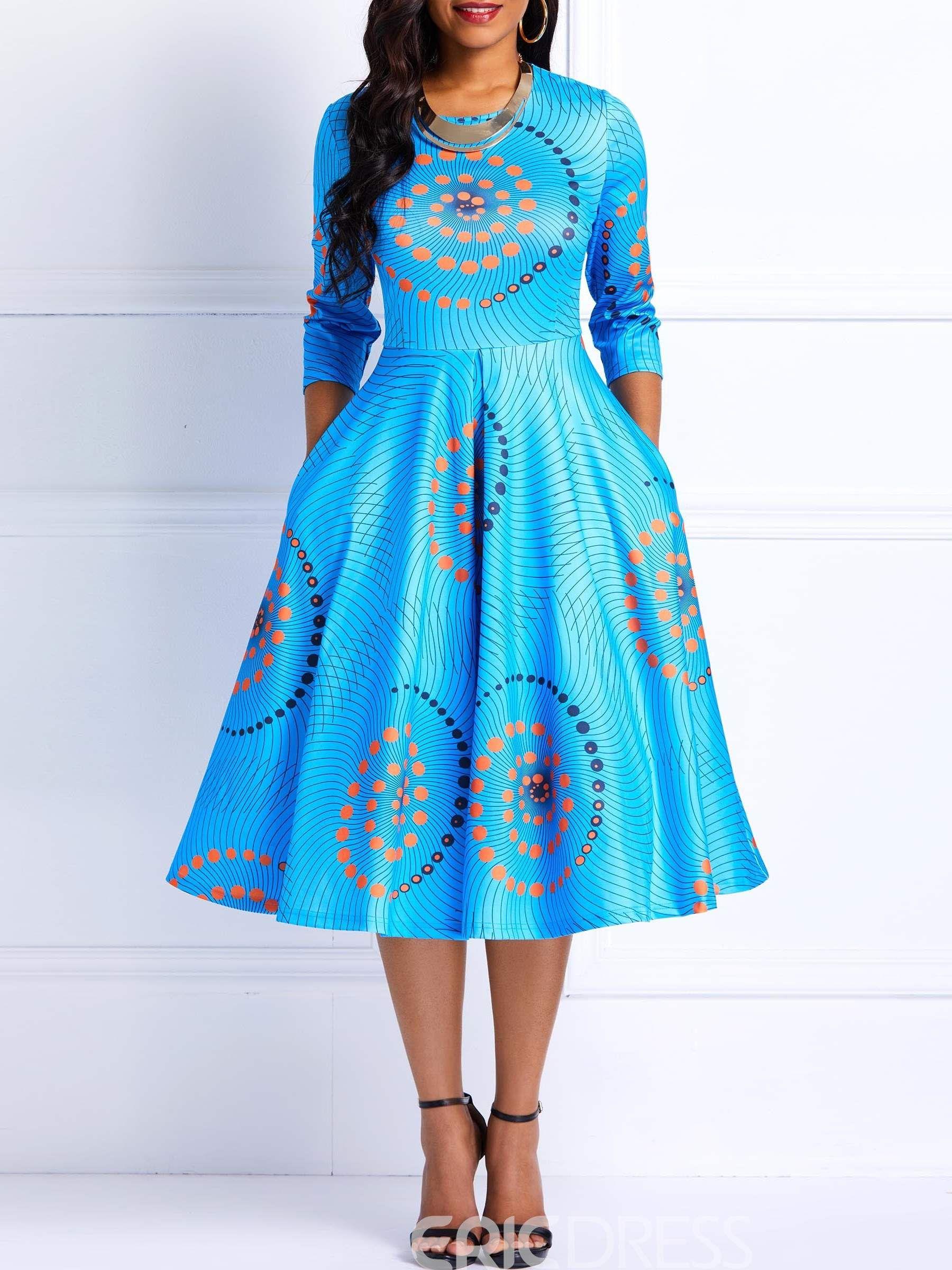 African fashion ankara color block aline dress african