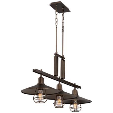 Garryton 44 Wide Bronze Kitchen Island Light Chandelier 8g601 Lamps Plus Lamps Plus Kitchen Island Lighting Chandelier Lighting
