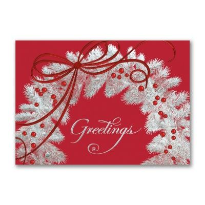 40% OFF   Silver Wreath  http://mediaplus.carlsoncraft.com/Holiday/Shop-All-Holiday-Cards/YM-YMH15618-Silver-Wreath.pro