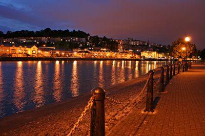 Dusk in Bristol Harbour