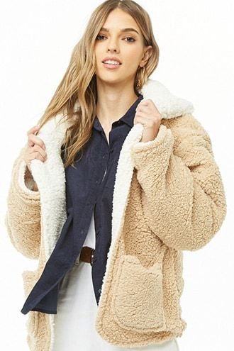 Faux Shearling Teddy Coat  879842d7abfb4