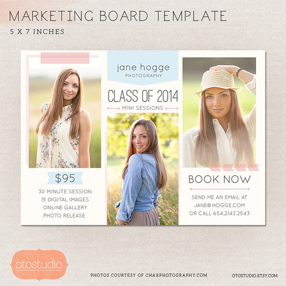 This digital marketing board will be perfect to use as flyer - photography flyer