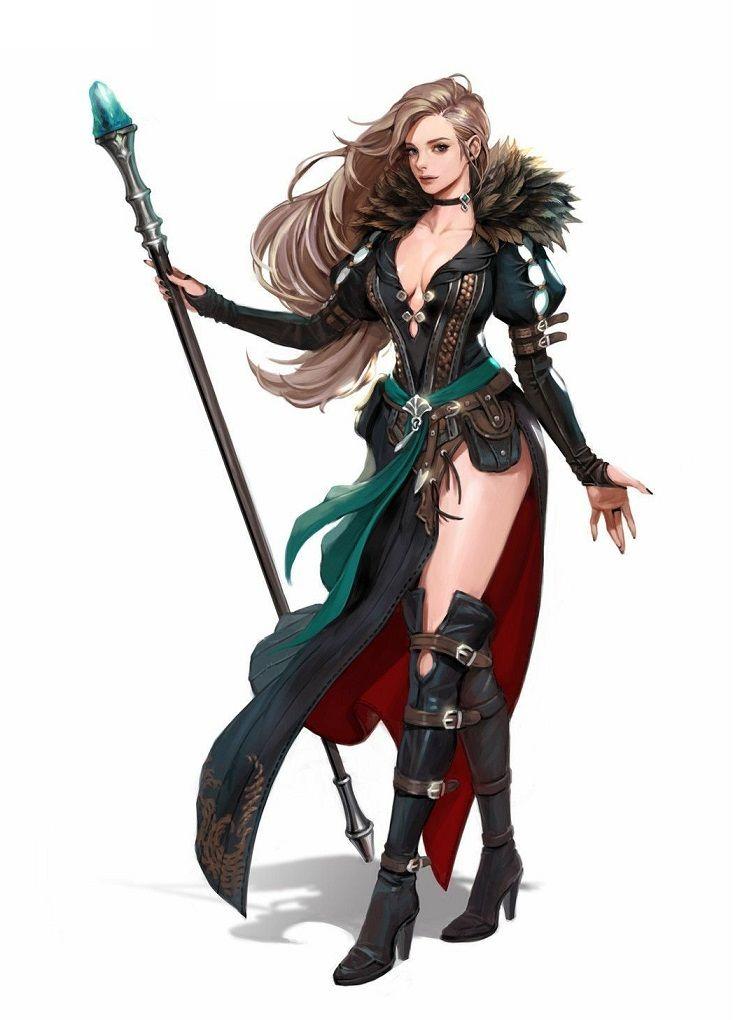 Female Human Sorcerer - Pathfinder PFRPG DND D&D 3 5 5th ed d20