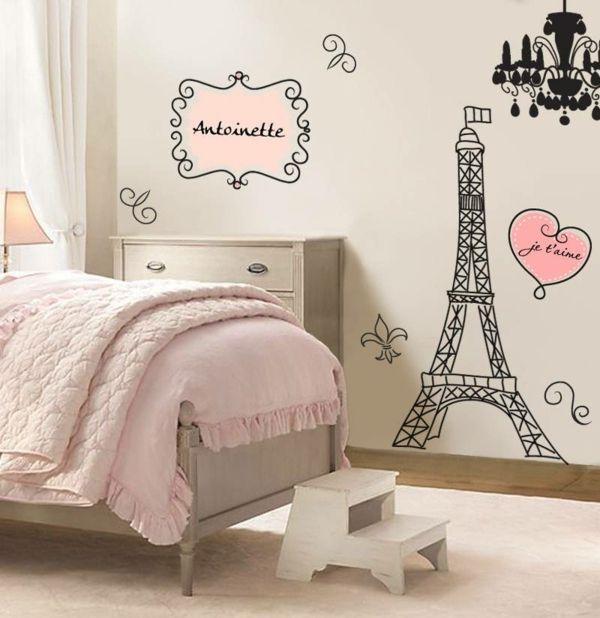 Stickers Chambre Fille Personnalisables Theme Francais