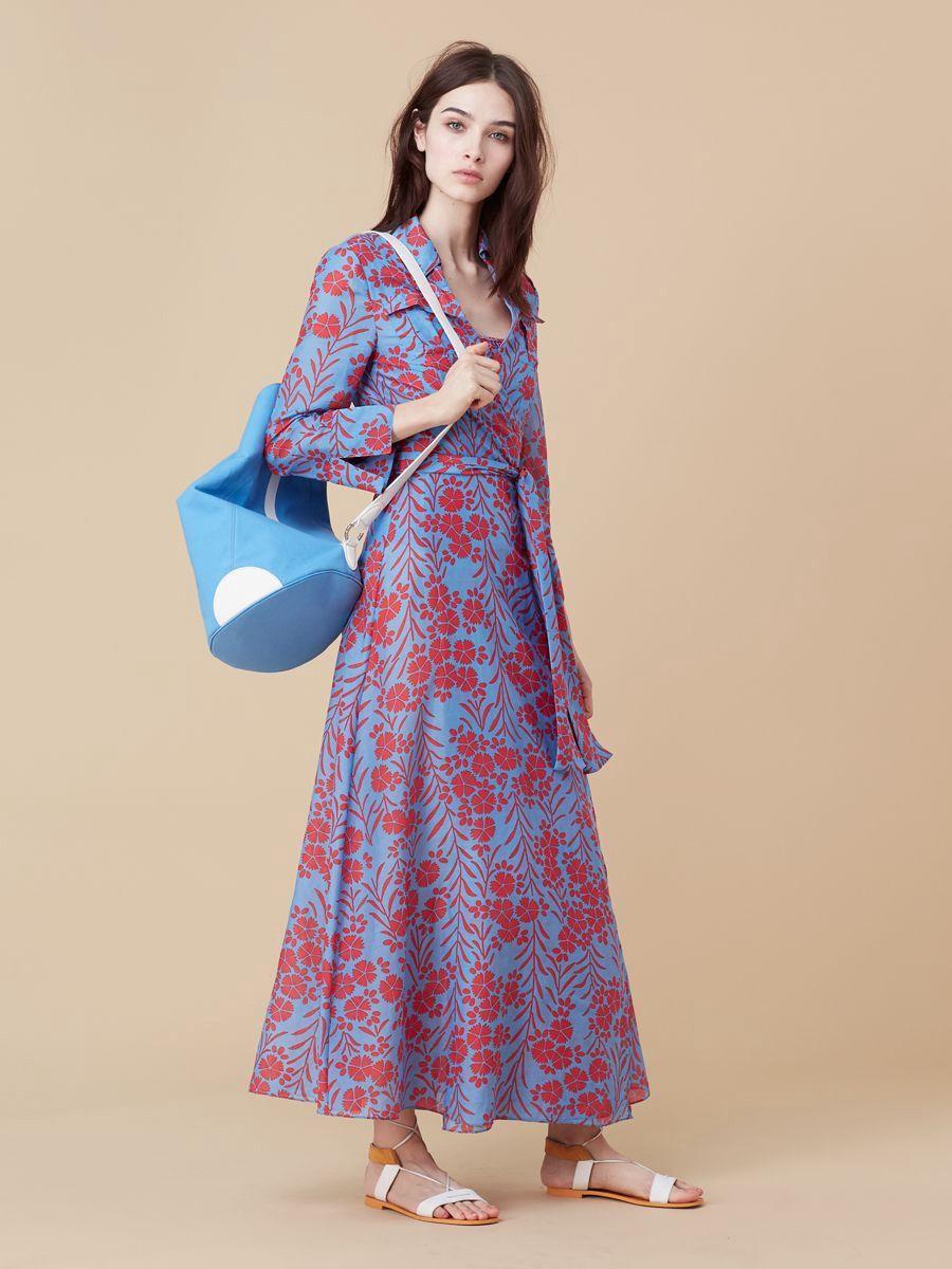 62899c642e Diane Von Furstenberg Dvf Collared Wrap Dress Cover-Up - Argos Clementine M