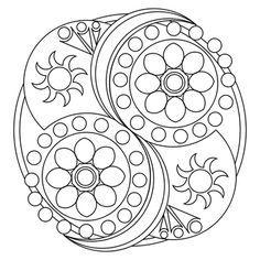 Templates Black And White Huichol Art Google Search Mandala Sencilla Mandalas Para Colorear Plantillas De Mandalas