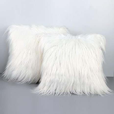 fur throw pillows