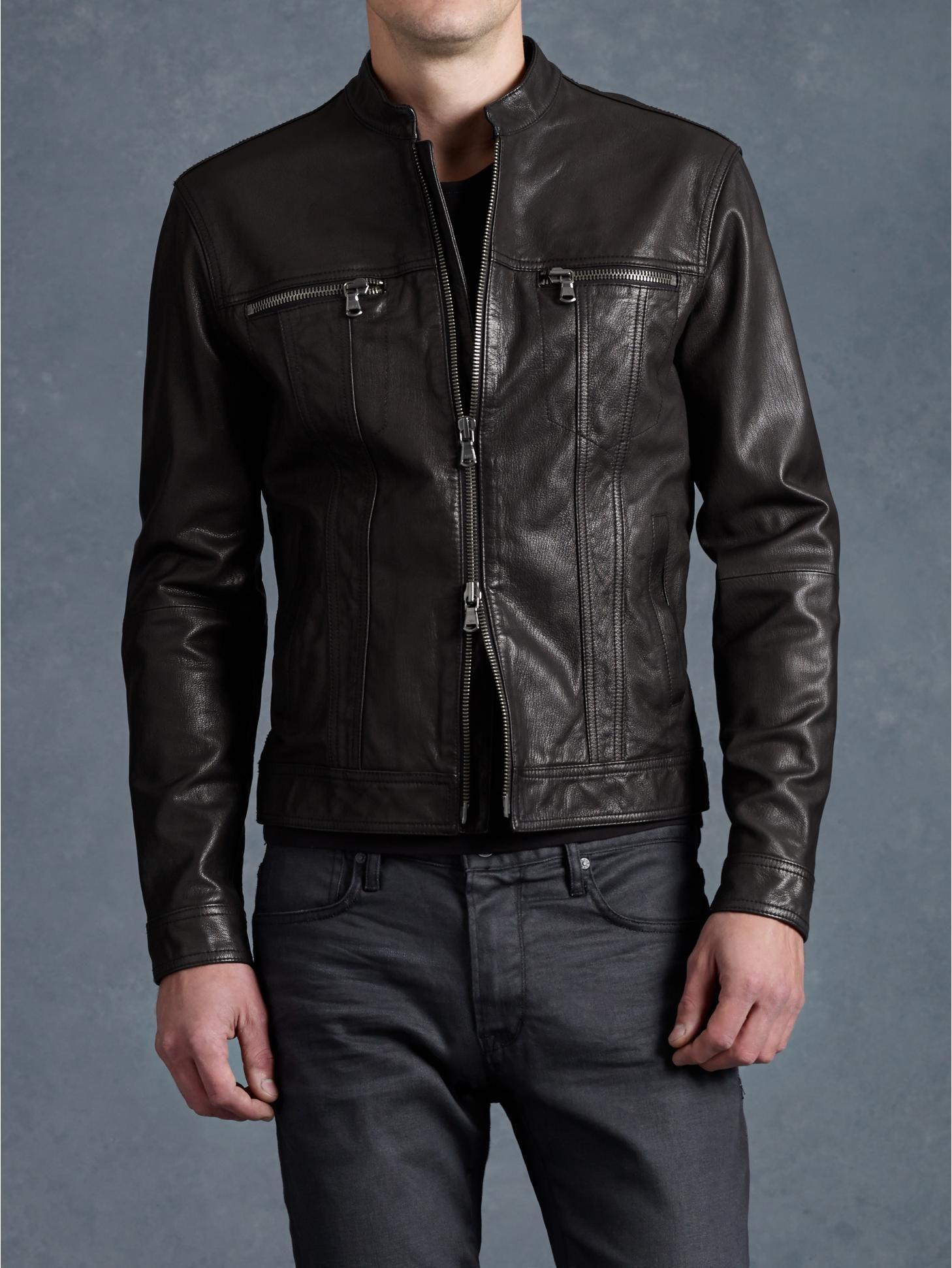 9afe53544499 Jean Style Leather Jacket - John Varvatos …   Chaquetas de cuero ...