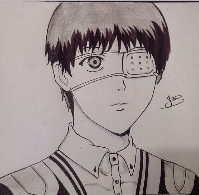 Kaneki Ken Tokyo Ghoul Anime Manga Draw Drawing Sketch
