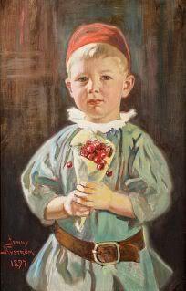 NYSTRÖM Jenny Boy with cherries 1897