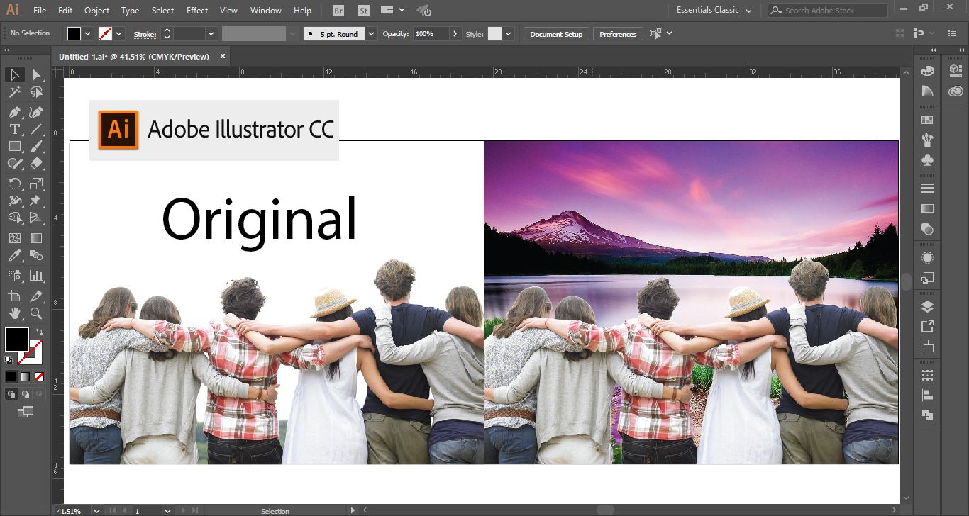 Using This Illustrator Secret You Will Be Able To Remove The Backgrounds Of Raster Images Make Them Tra Illustrator Tutorials Raster Image Photoshop Editing
