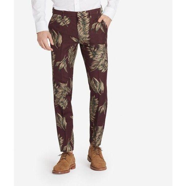 Foundation Trouser   Bonobos ($158) ❤ liked on Polyvore featuring men's fashion, men's clothing, men's pants, men's casual pants and mens cotton pants