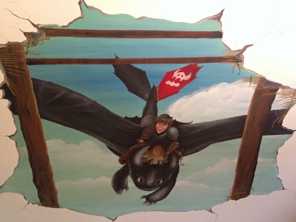 Wandbemalung Kinderzimmer Butterfly Art Melanie Nicklisch