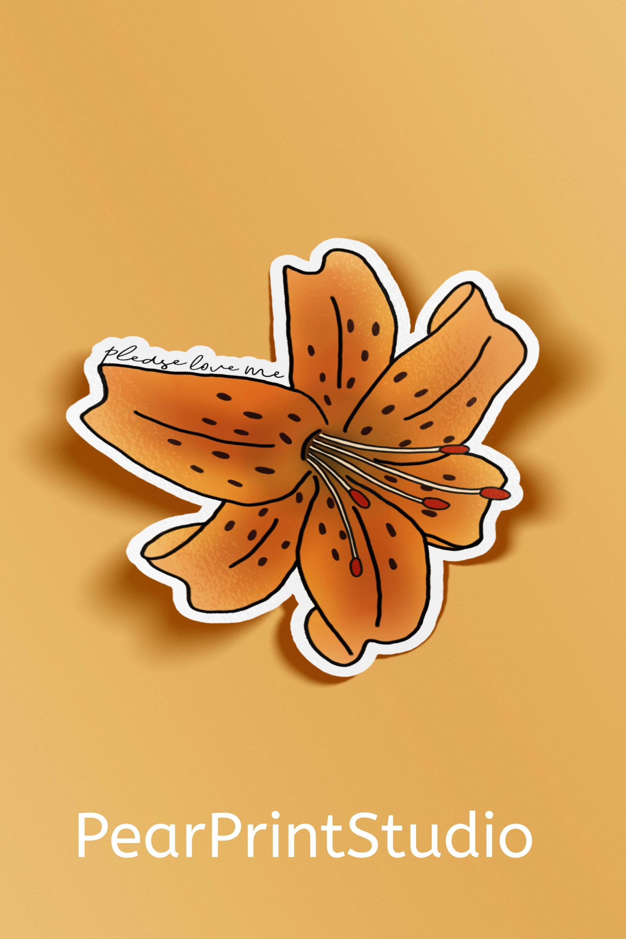 Tiger Lily BTS Jungkook Decal / BTS Sticker / Kpop