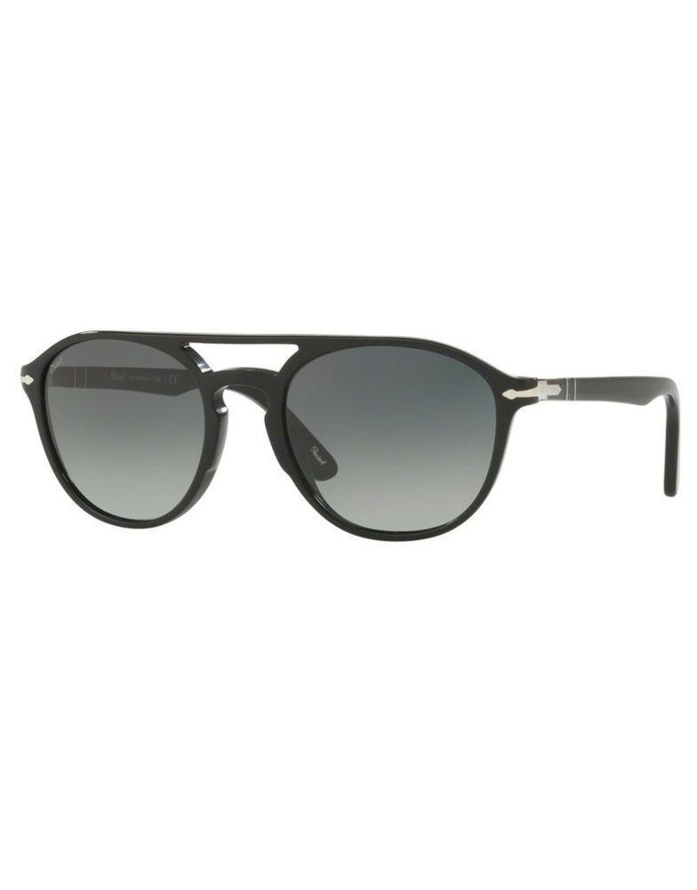 b86cec948cf96 Sunglasses PERSOL original PO3170S 9014 71 55-20 Black Grey Gradient (eBay  Link