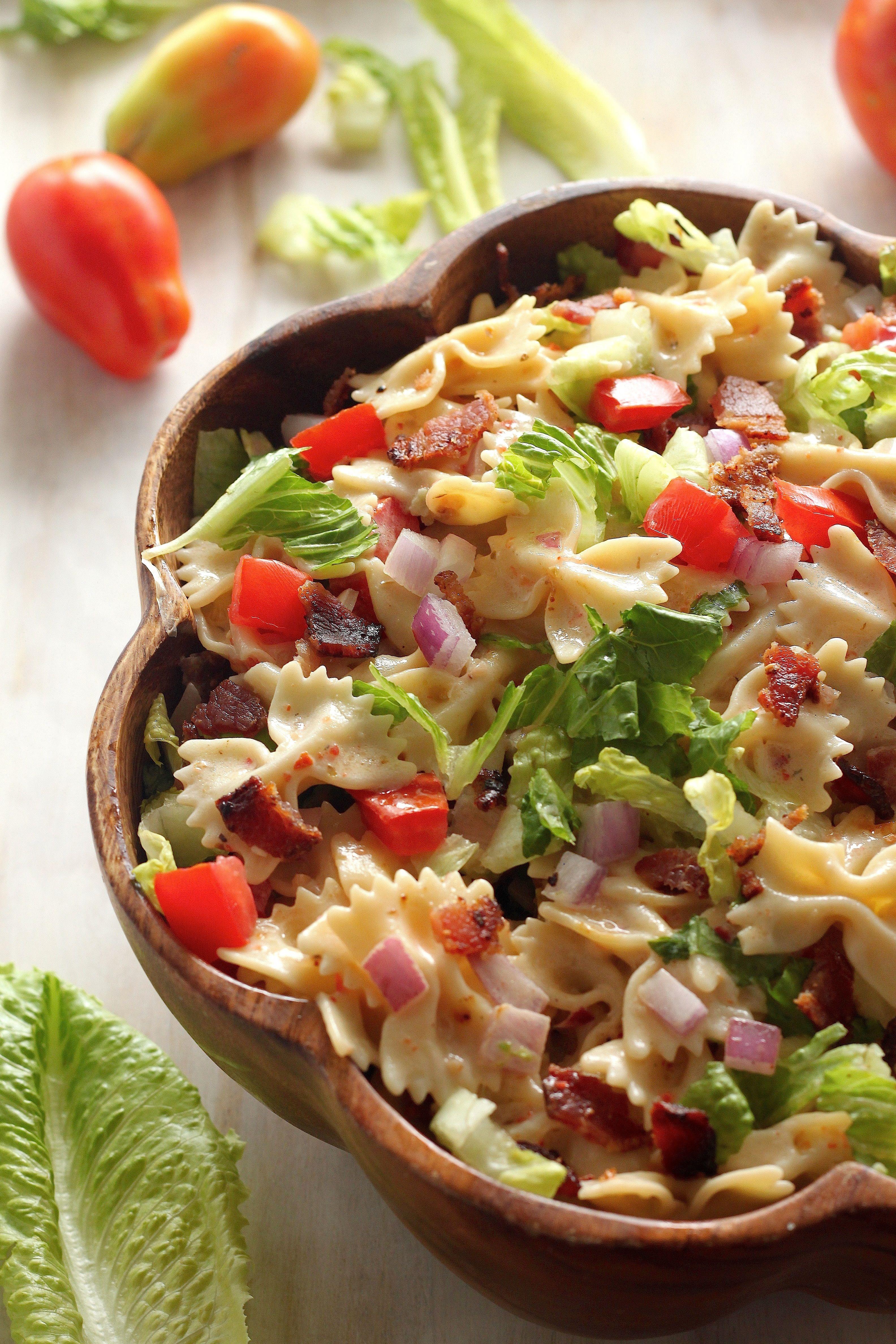 20-Minute BLT Pasta Salad | Recipe | Blt pasta salads, Pasta salad ...